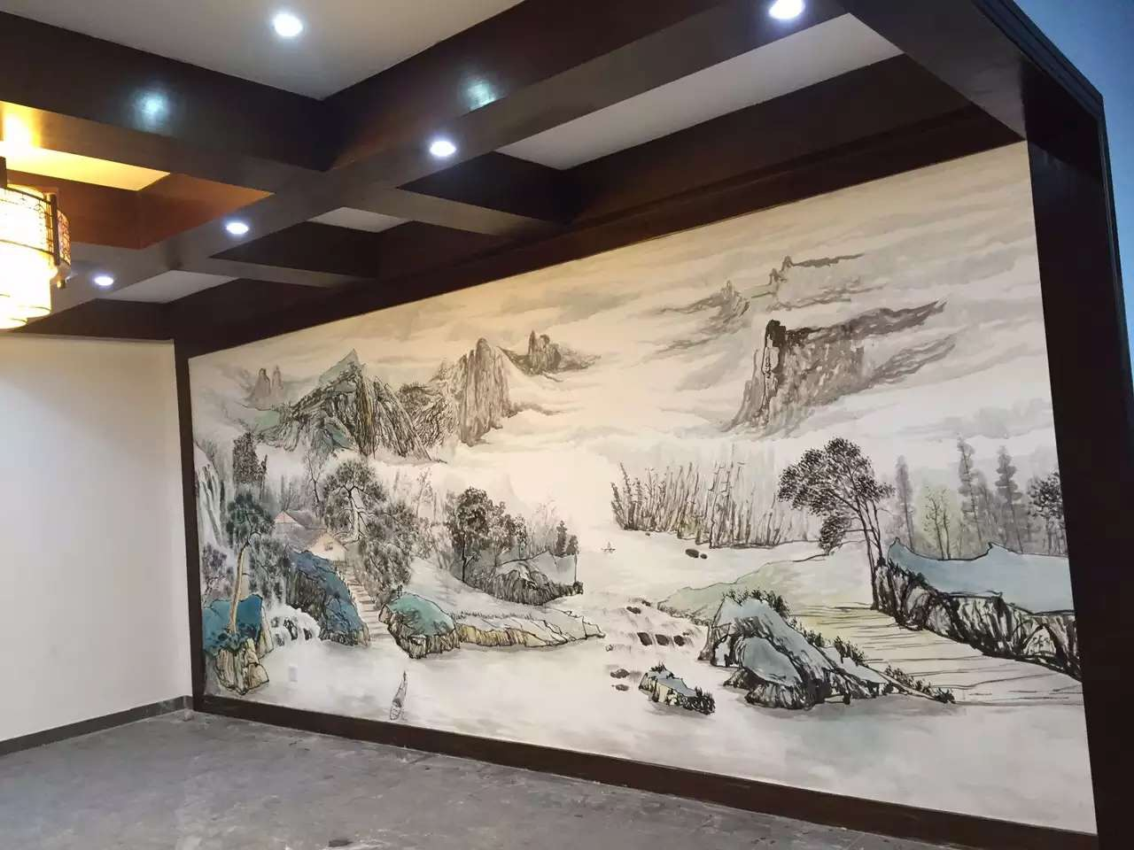 饭店手绘壁画_(1)