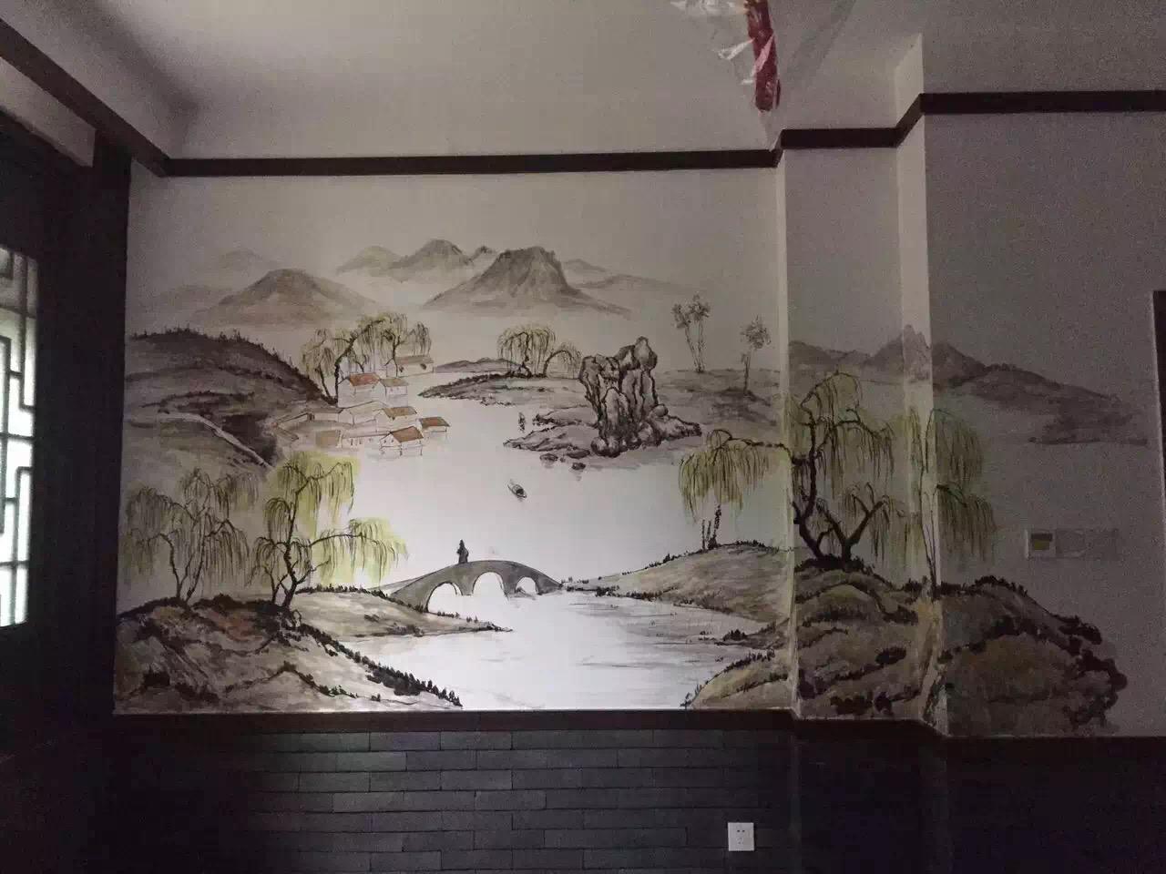 饭店手绘壁画_(2)