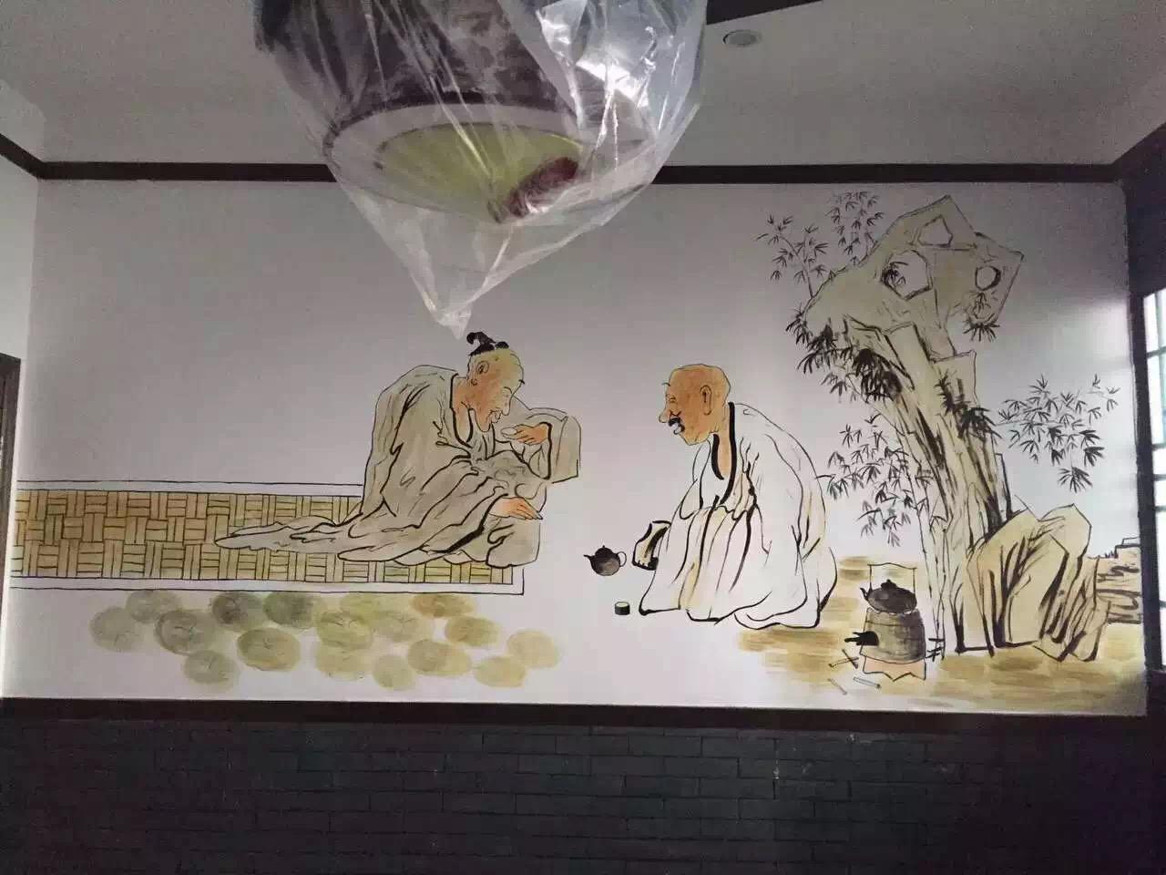 饭店手绘壁画