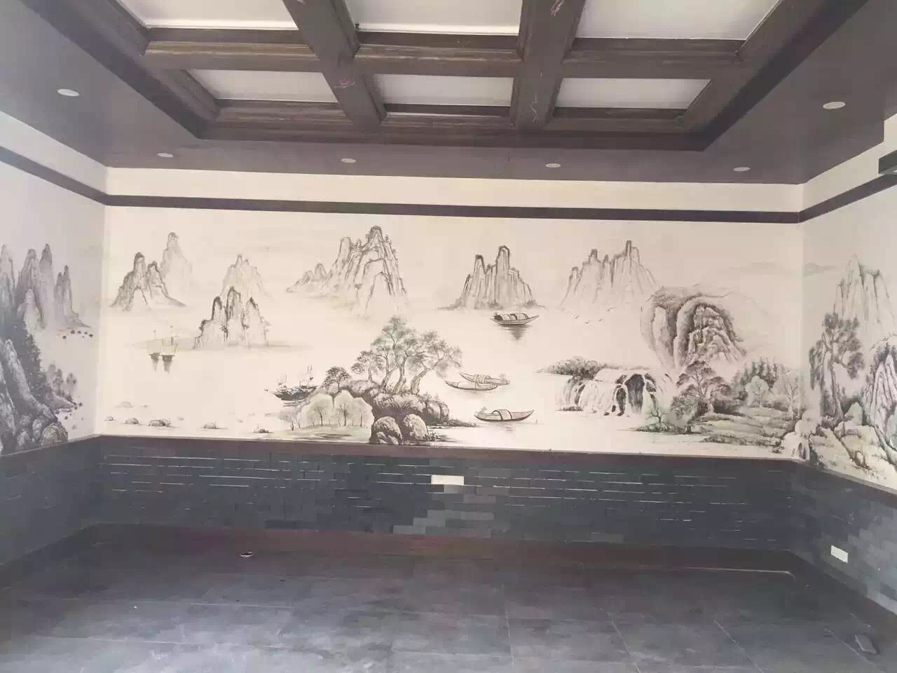 饭店手绘壁画_(6)