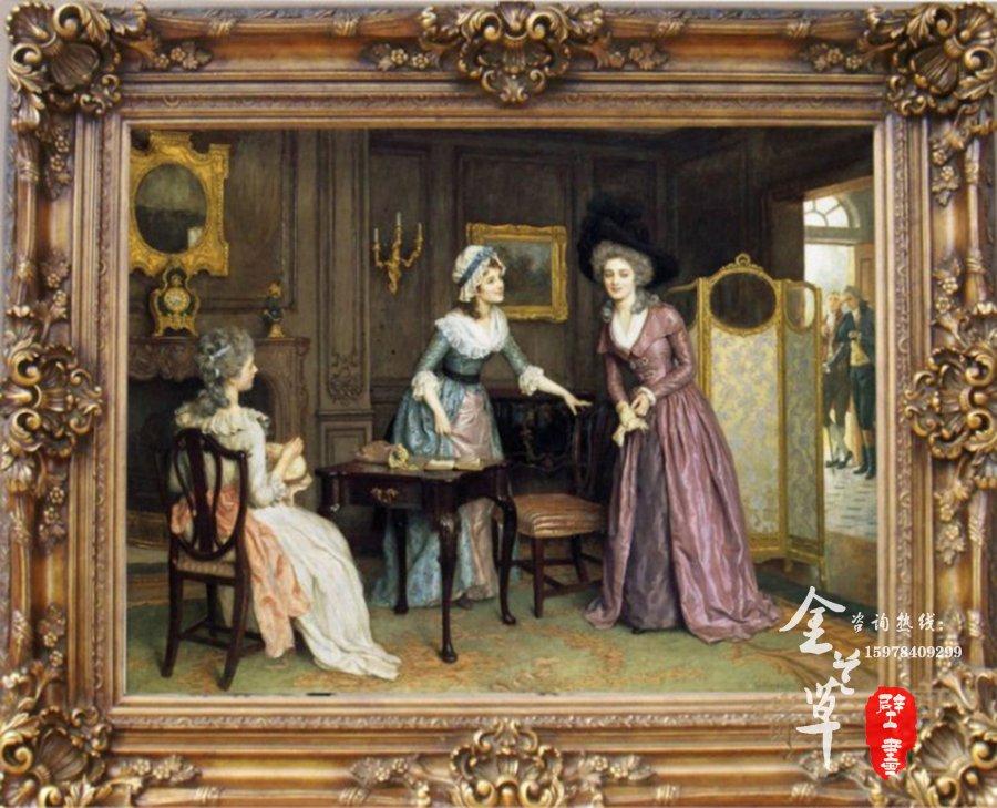 以下油画比较适合装饰比较偏欧式或者纯欧式风格的别墅配画