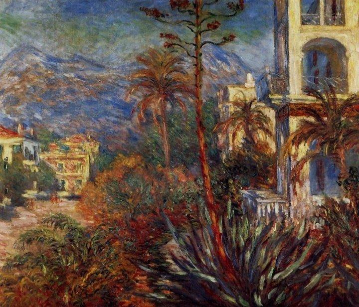 巴黎海边街景油画