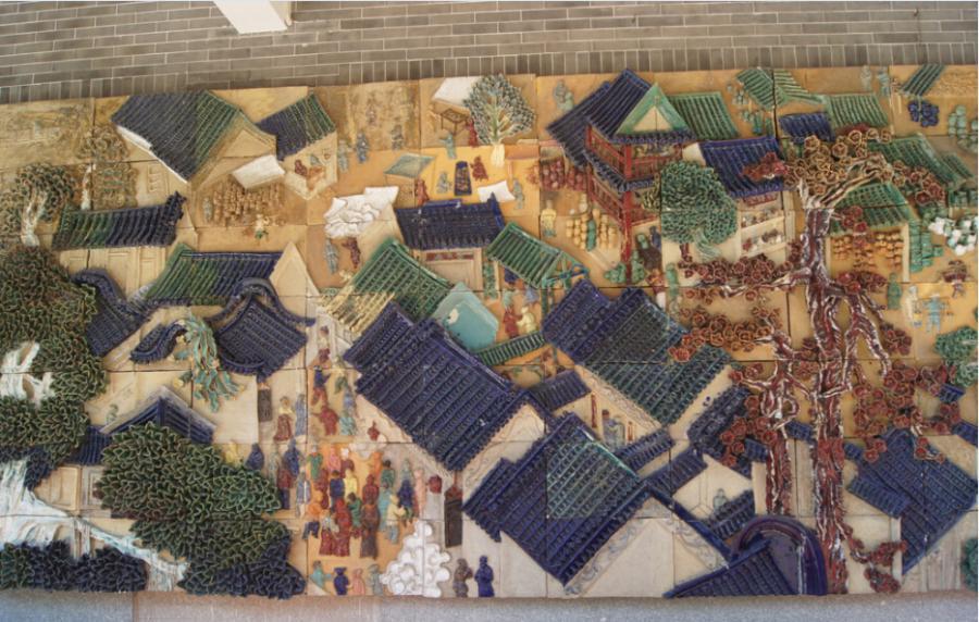 火车站陶瓷壁画,地铁站陶瓷壁画