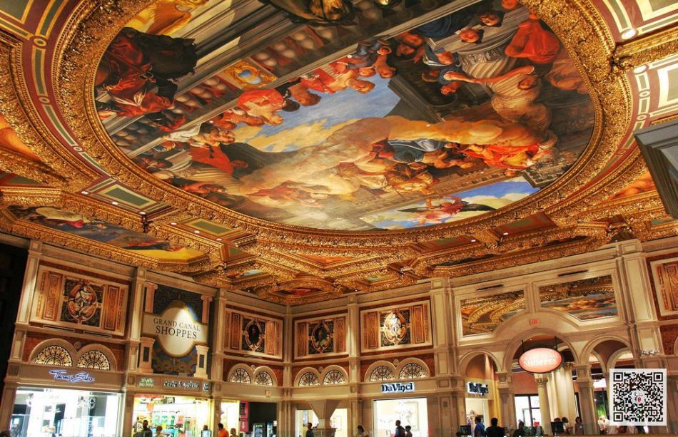 欧式穹顶手绘壁画_酒店穹顶壁画设计定制